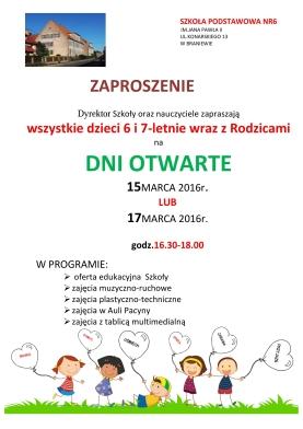 Wydarzenia Szkoła Podstawowa Nr 6 W Braniewie