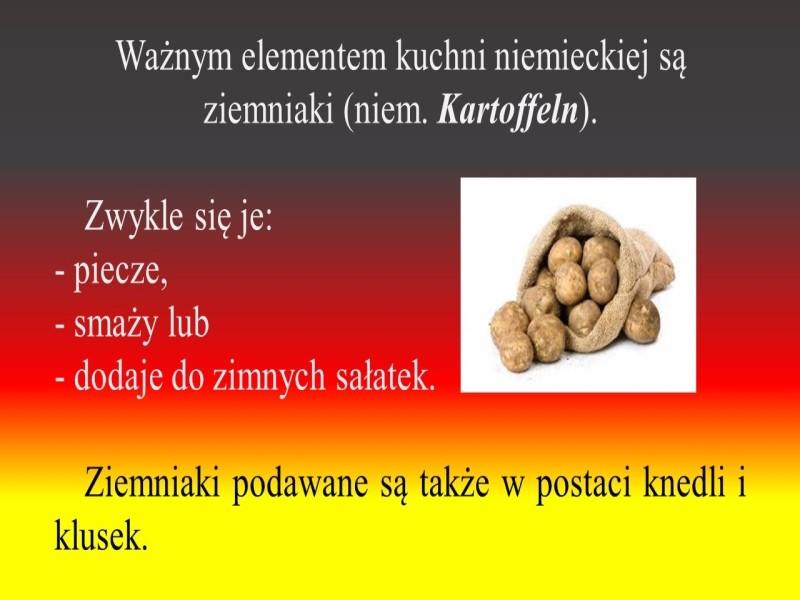 Podsumowanie Projektu Z Jezyka Niemieckiego Deutsche Kuche